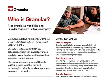 featured image for Granular Fact Sheet